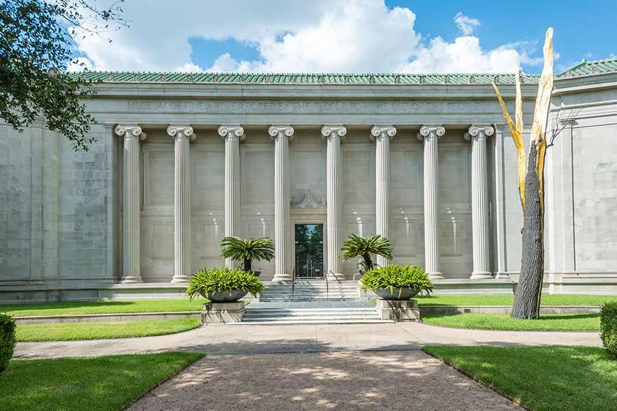 A short drive to the Museum of Fine Arts