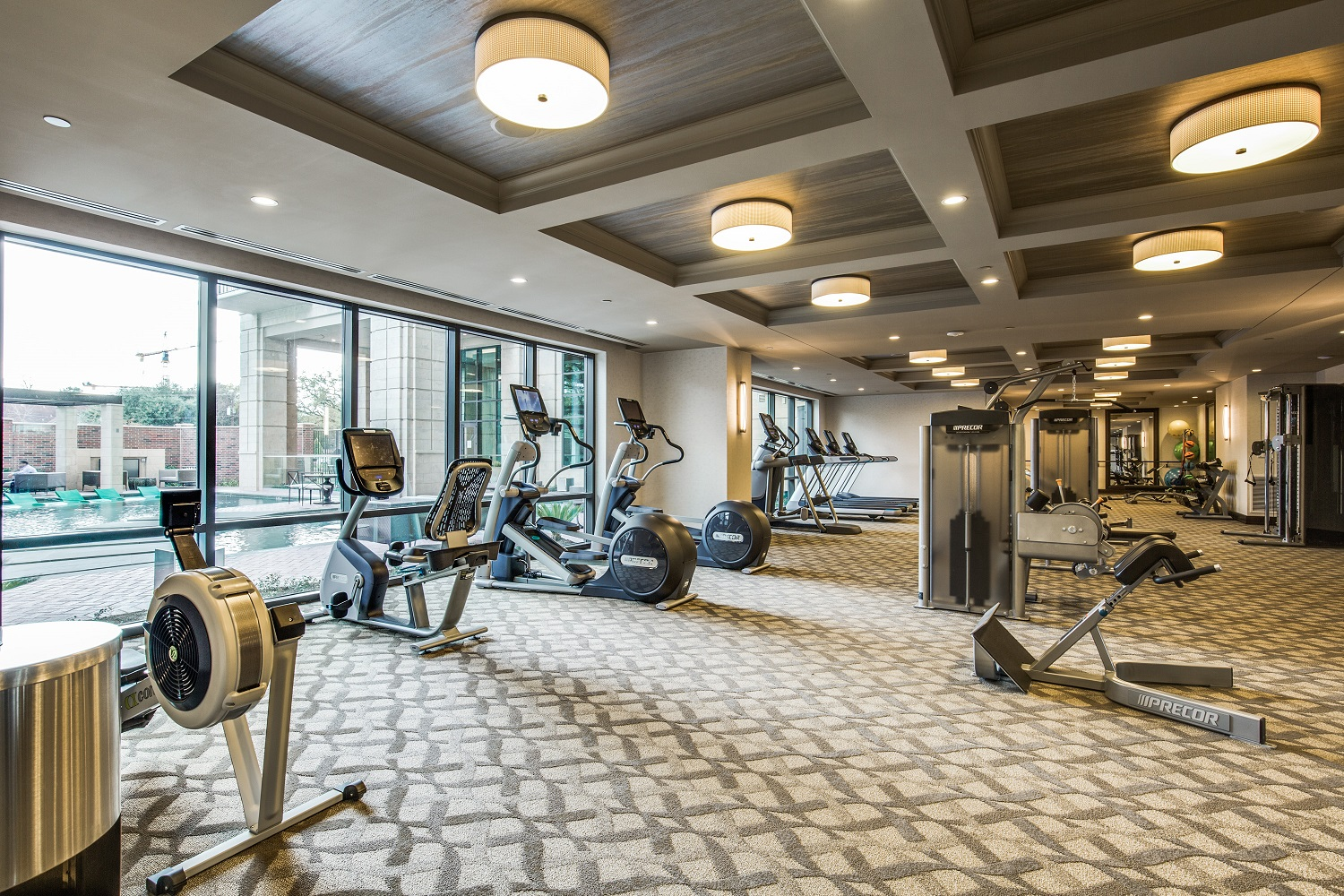 Strength and Cardio Fitness Center with Precor equipment